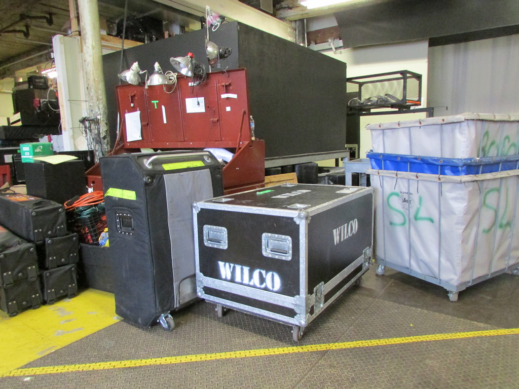 . Wilco\'s equipment was being unloaded at Mass MoCA on Tuesday in preparation for Solid Sound Festival, which begins Friday. (Jennifer Huberdeau/North Adams Transcript)