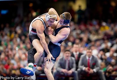 157: No. 3 Jason Nolf (Penn State) dec. No. 1 Hayden Hidlay (NC State), 6-2