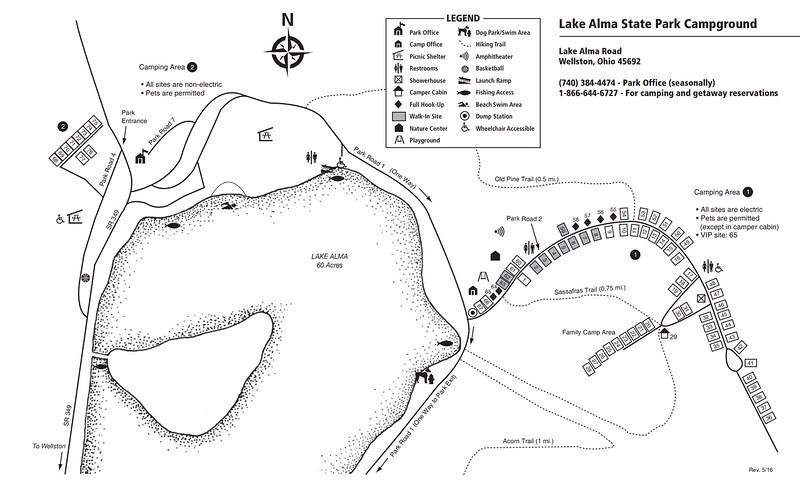 Lake Alma State Park (Campground Map)