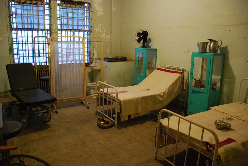 Hospital room at Alcatraz.