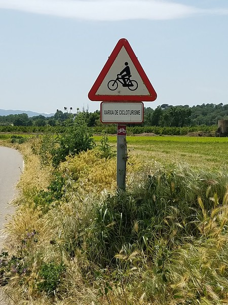 cycle tourism sign in Catalan.jpg