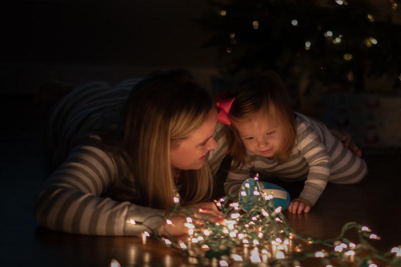 Christmas Lights with Kinsley 2018