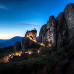 Twilight Monastery - (Meteora, Greece)