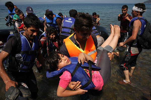 Refugees in Lesvos