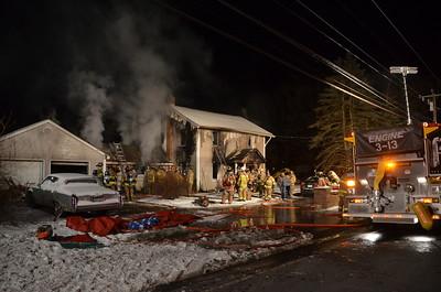 Structure Fire - 1134 Killingworth Rd, Haddam, CT - 1/10/15