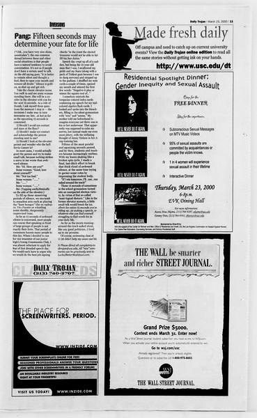 Daily Trojan, Vol. 139, No. 42, March 23, 2000