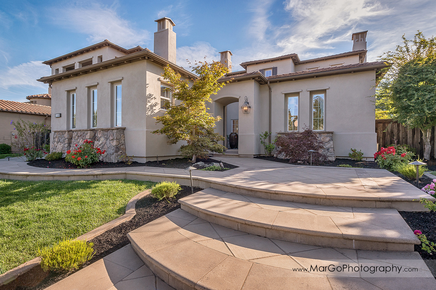 front view of San Ramon house - real estate photography