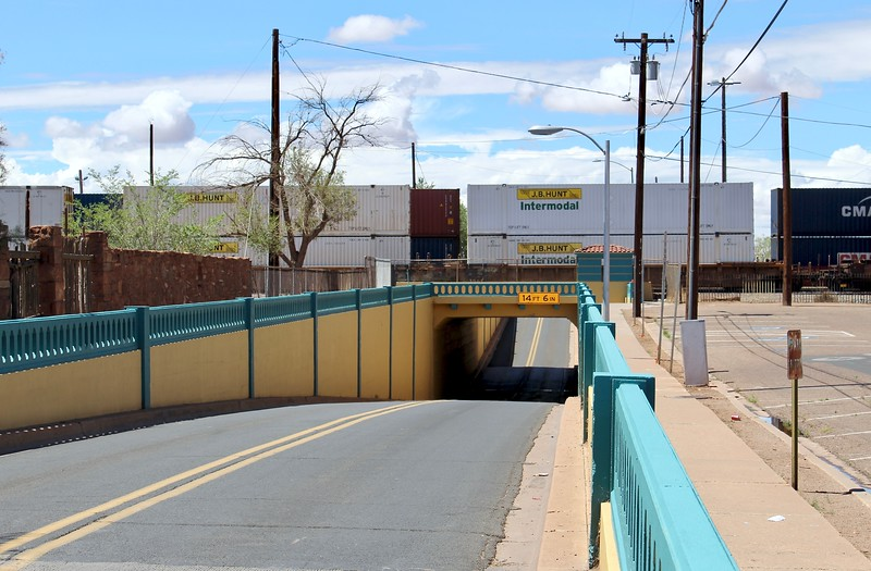 BNSF Railway underpass on State Route 87 (2018)