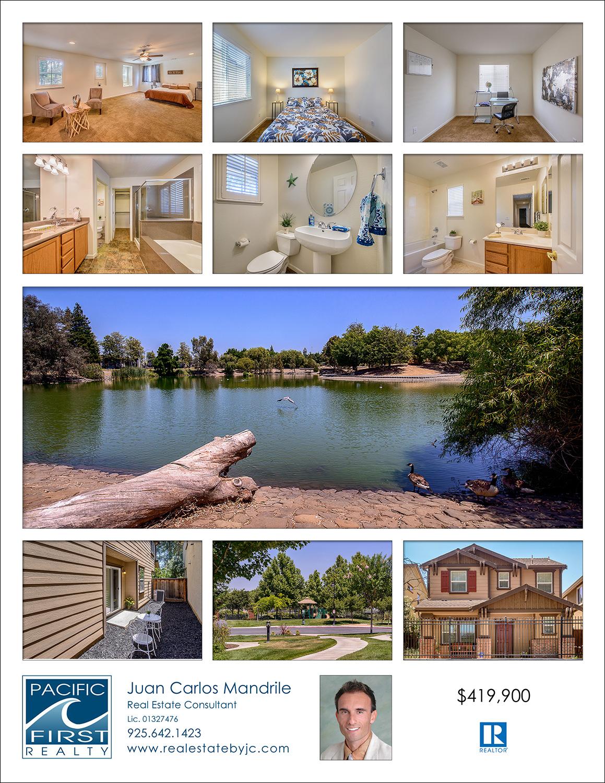 back page of real estate flyer