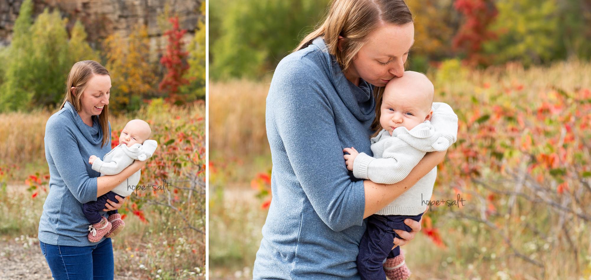 burlington ontario newborn photographer - casual outdoor baby girl family session