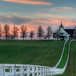 Early morning sunrise in beautiful horse country right behind the Keeneland Race Track.