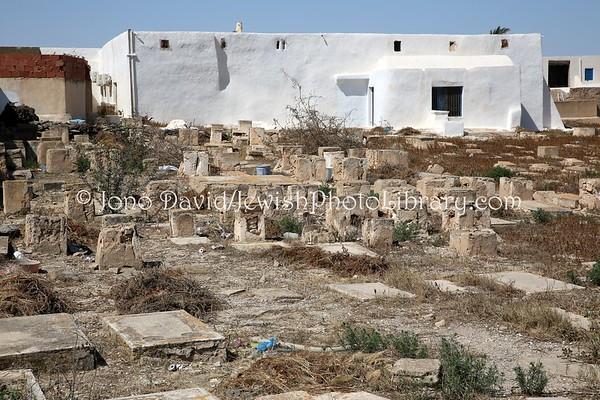 TUNISIA, Djerba, Hara Kebira. Jewish Cemetery of Synagogue Kebira (3.2016)