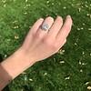 2.85ct Antique Cushion Cut Diamond Halo Ring 34