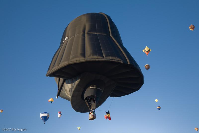 Darth Vader flies away
