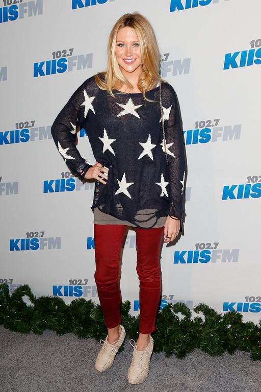 . TV personality Stephanie Pratt attends KIIS FM\'s 2012 Jingle Ball at Nokia Theatre L.A. Live on December 3, 2012 in Los Angeles, California.  (Photo by Imeh Akpanudosen/Getty Images)
