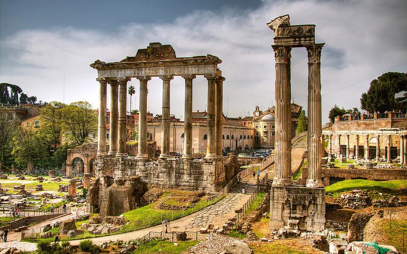 Temple of Saturn, Roman Forum (HDR Image)