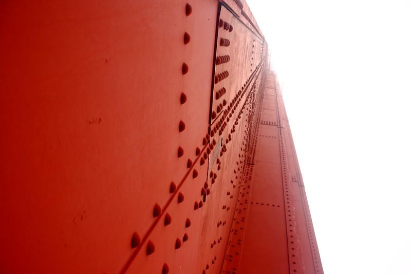 Looking up: Golden Gate Bridge