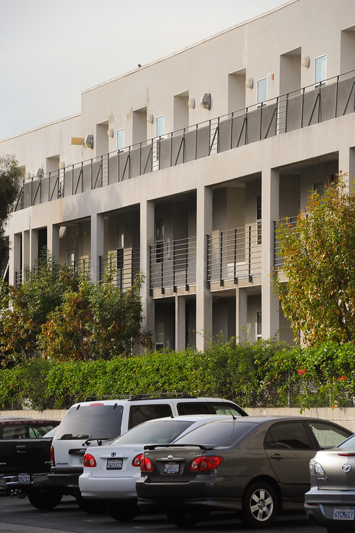 . The Parc Ridge Apartments were rebuilt in the location of the Northridge Meadows Apartments on Reseda Boulevard in Northridge. (Photo by Michael Owen Baker/L.A. Daily News)