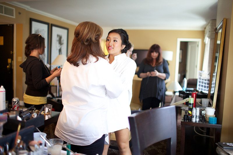 Le Cape Weddings - Chicago Cultural Center Weddings - Kaylin and John - 03 Bridesmaids Getting Ready 49
