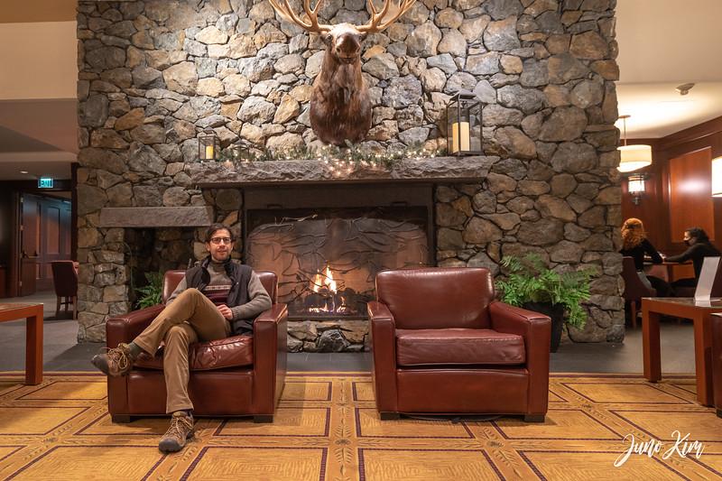 Alyeska Resort fireplace