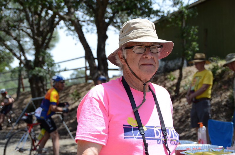 Roger Kohn captains the Big Canyon water stop (mile 105)