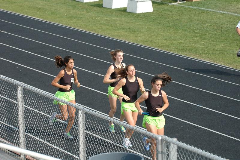 "Maclay School (Tallahassee, FL). Front to back, it's Emily Beck, Adriana ""AP"" Piekarewicz, Katy Swain, and Alicia Fenley."