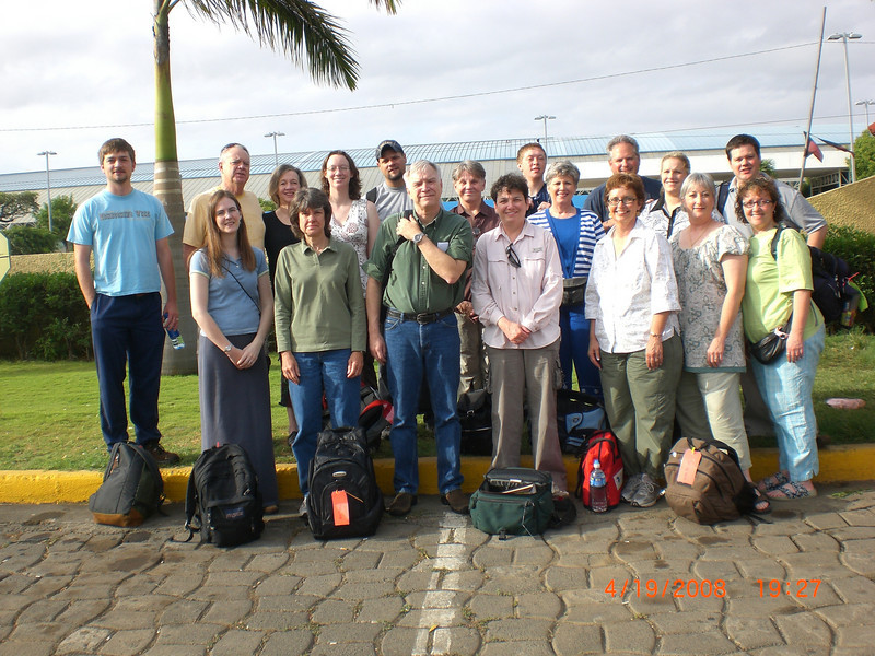 Arrival of Olive Branch group in Managua