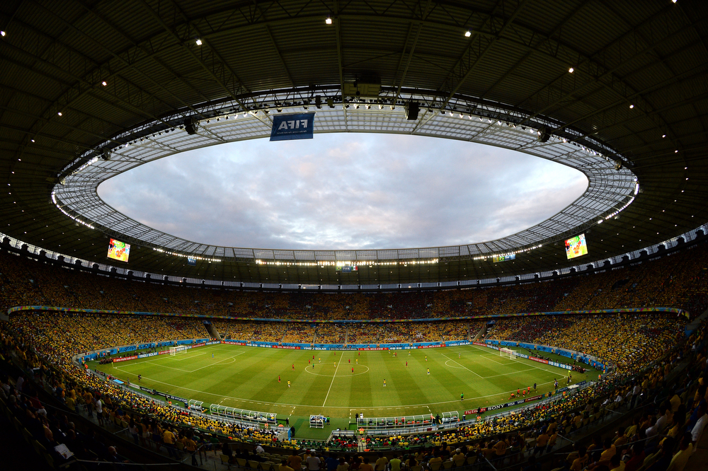 . A general view of the stadium during the 2014 FIFA World Cup Brazil Group A match between Brazil and Mexico at Castelao on June 17, 2014 in Fortaleza, Brazil.  (Photo by Jamie McDonald/Getty Images)