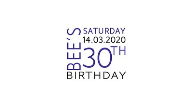 14.03 Bee's 30th