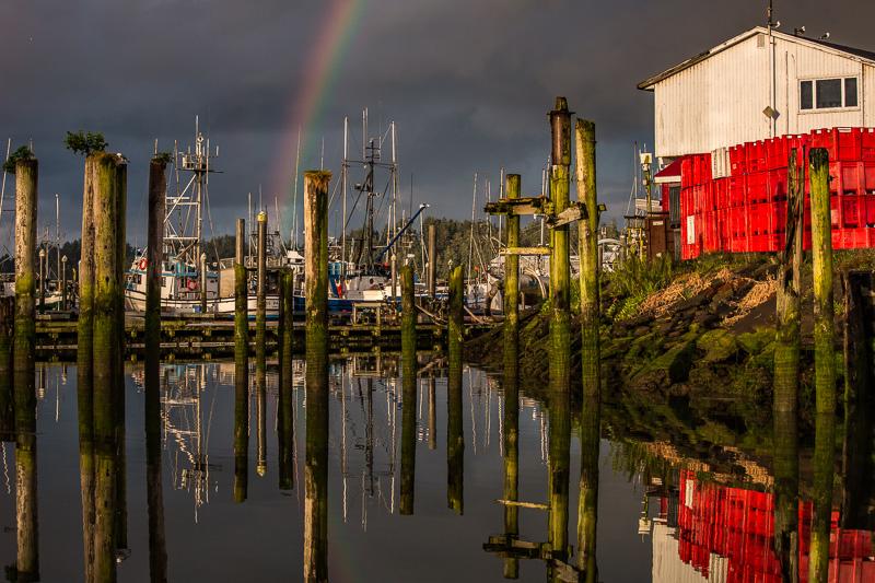 June 9 - Port of Ilwaco, Washington State on a cold blustery rainy morning.jpg