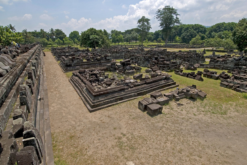 More ruins at the landscape within the Prambanan temple complex