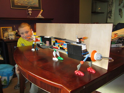 Noah's Lego Avengers Machine