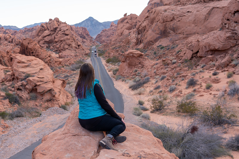 Mouse's Tank Road in Valley of Fire State Park