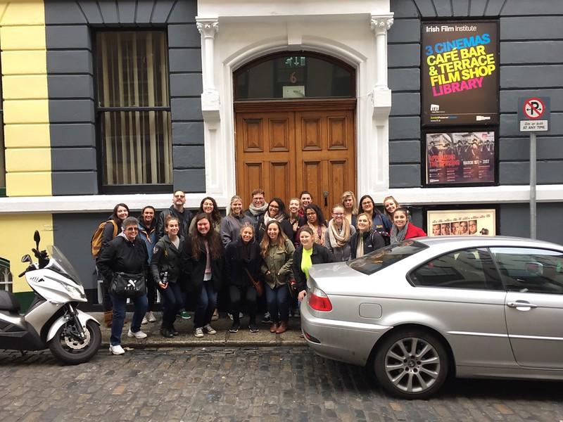 Students outside the Irish Film Institute in Dublin.jpg