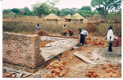 Namutumba Grain Mill Construction, spring, 2011