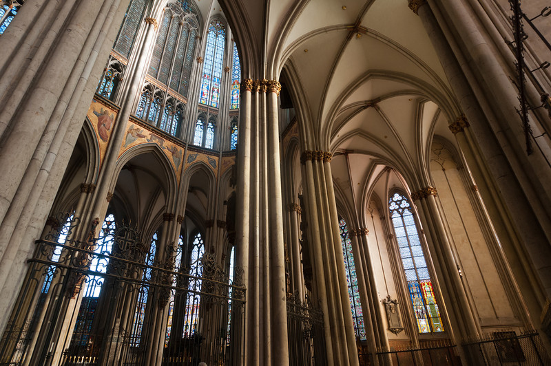 Details of the interior of Cologne Cathedral in Germany