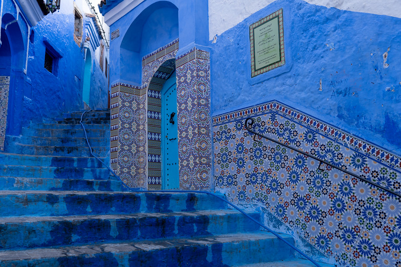 Tiles in Chefchaouen, Morocco