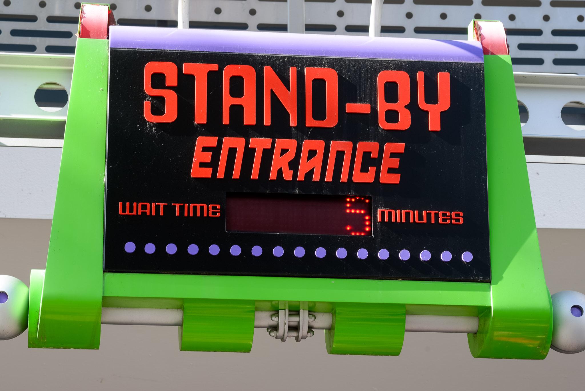 Buzz Lightyear Wait - Walt Disney World Magic Kingdom