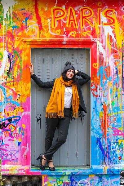Charlotte Lasnier, Un Jour D' Octobre 2019 à Montmartre