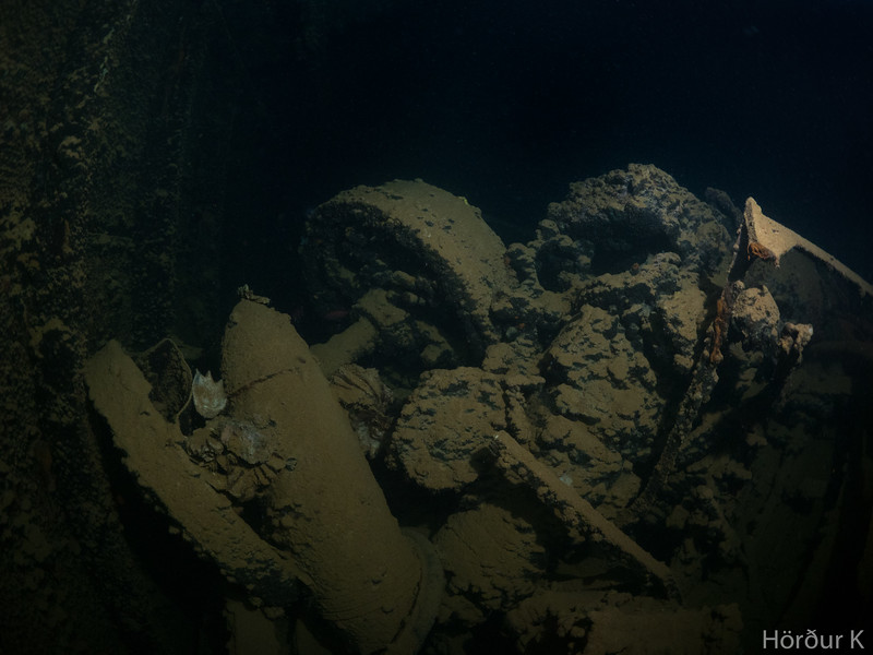 In the cargo holds of Yamagiri Maru