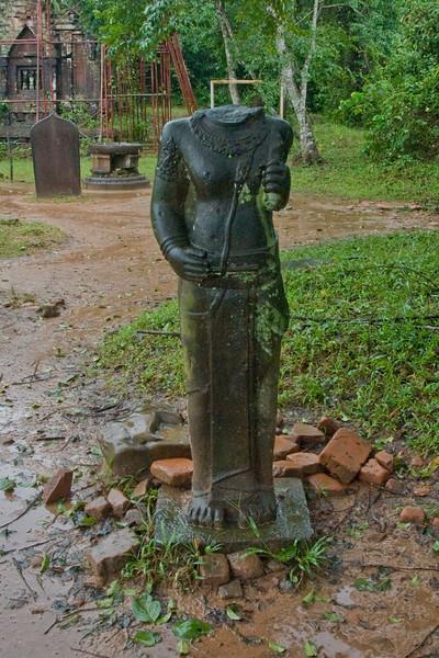 Headless statue in My Son Sanctuary, Vietnam
