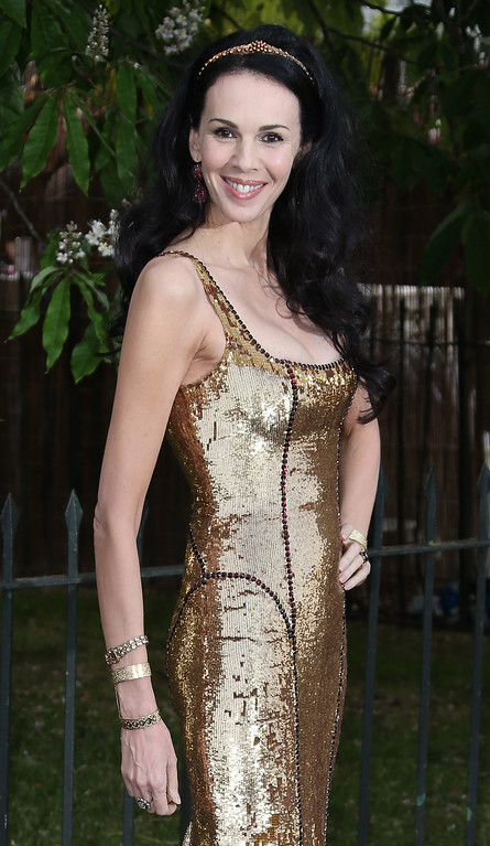. L\'Wren Scott arrives for the Serpentine Gallery Summer Party at Hyde Park in central London, Wednesday, June 26, 2013. (Photo by Joel Ryan/Invision/AP)