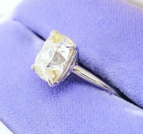 9 x 8mm Elongated Cushion Cut Moissanite in Stuller Solitaire