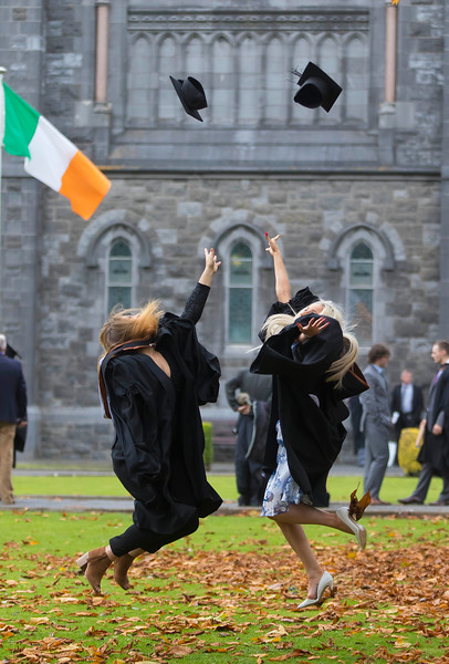 30/10/2015. Waterford Institute of Technology Conferring. Pictured are Graduates in Bachelor of Arts (Honours) in Health Promotion are Sabrina Hawkins, Clonmel, Co. Tipperary and  Jessica O'Hanlon, Carrick On Suir, Co. Tipperary. Picture: Patrick Browne
