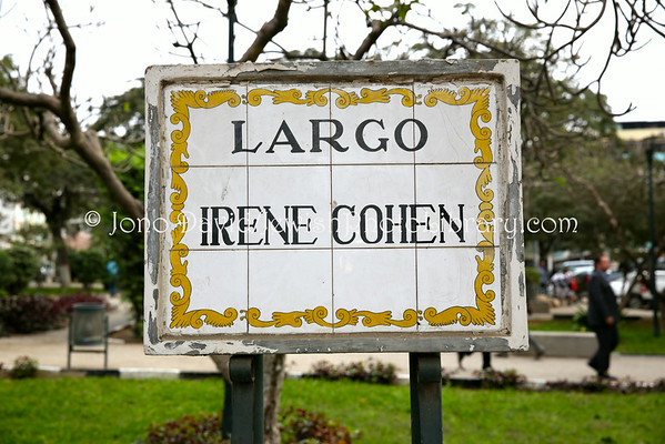 ANGOLA, Luanda. Irene Cohen Square (Largo Irene Cohen); one of the five most well-respected  independence (freedom) fighters; she was imprisoned and assassinated (8.2014)