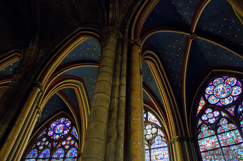 Stained Glass in Notre Dame 5  Photography by Wayne Heim