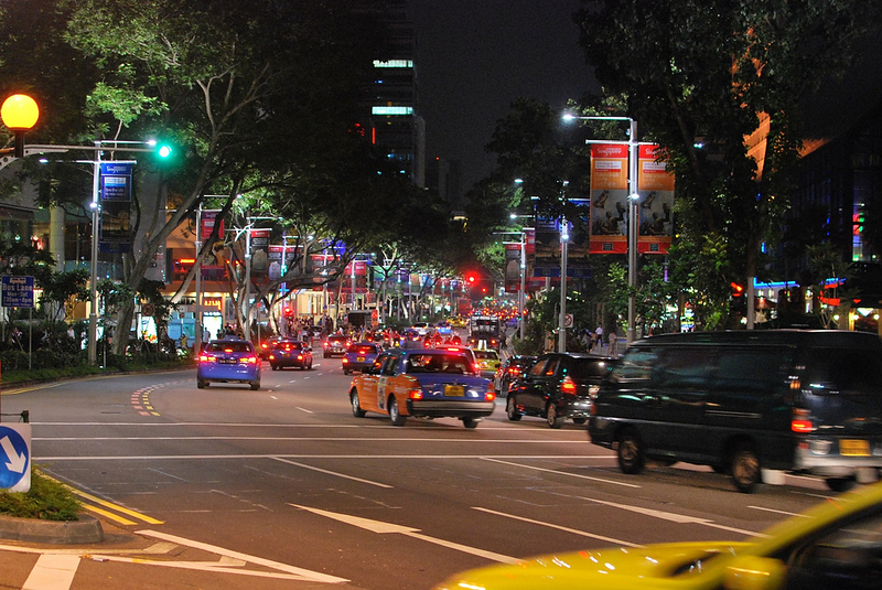 Orchard Road late at night