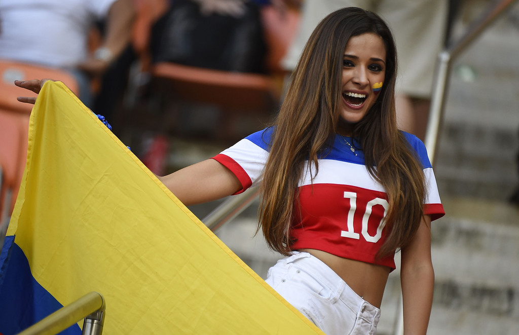 . A fan cheers before a Group G football match between USA and Portugal at the Amazonia Arena in Manaus during the 2014 FIFA World Cup on June 22, 2014.  ODD ANDERSEN/AFP/Getty Images