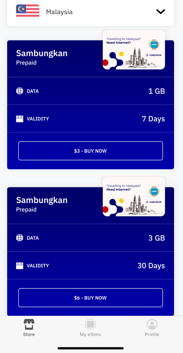 1GB or 3GB for data roaming
