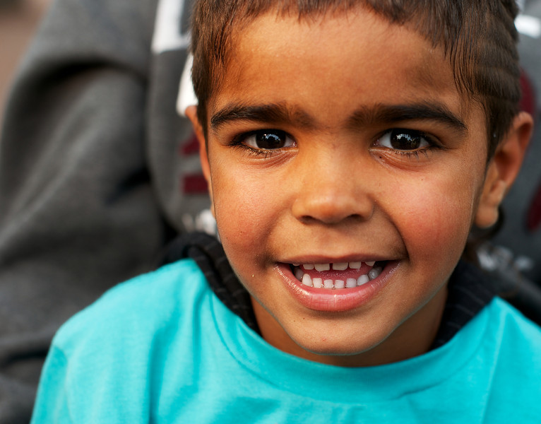 Four-Year-Old Indigenous Australian Boy with Brown Eyes
